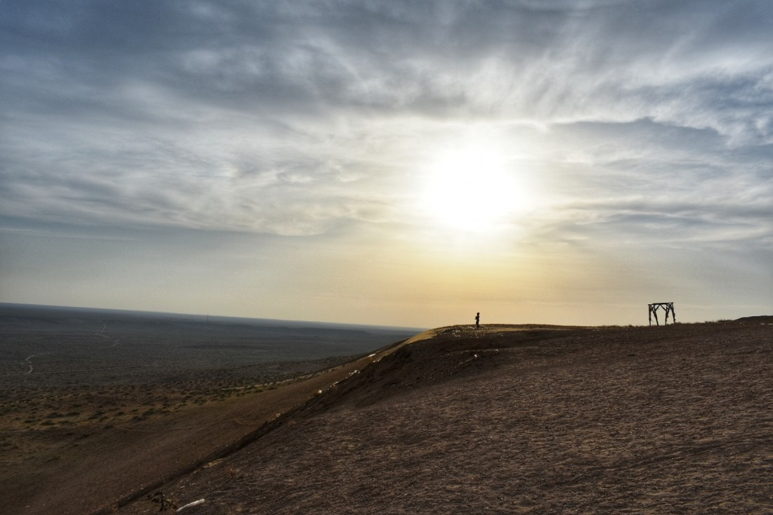 Sunset in the Karshi steppe